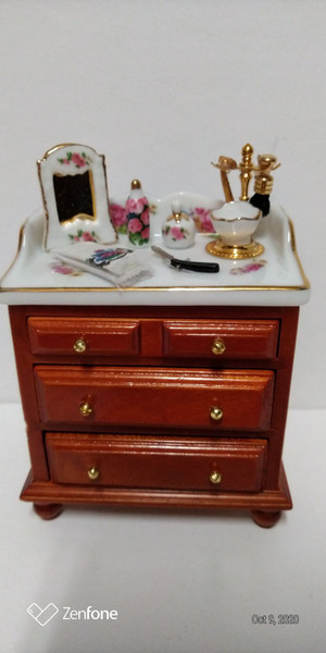Reutter Porcelain Victorian Rose Bathroom Cabinet & Accessories