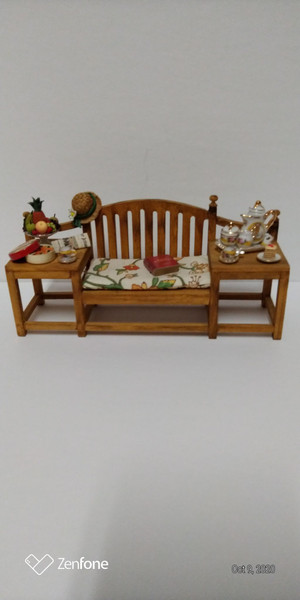 Reutter Porcelain Bench and Accessories