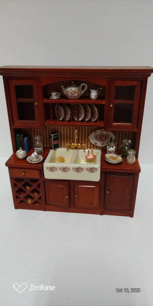 Reuter Porcelain Kitchen Sink & Cabinet with Accessories