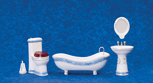 T5439 - Bathroom Set/5 with Flowers