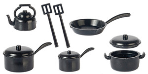 G6206 - Pot Set - Black