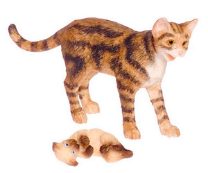 3788BR - Brown Cat & Siamese Kitten