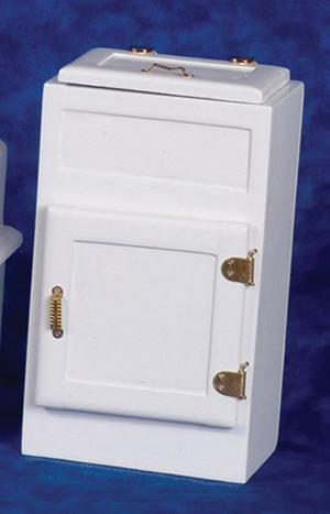 T6456 Two Door White Ice Box
