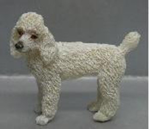 Dollhouse Miniature - RA0186 - POODLE - WHITE - STANDING