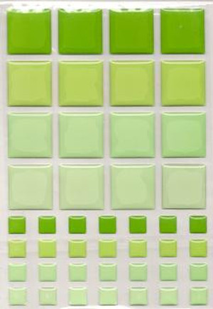 Dollhouse Miniature - 57403 - TILES - Green