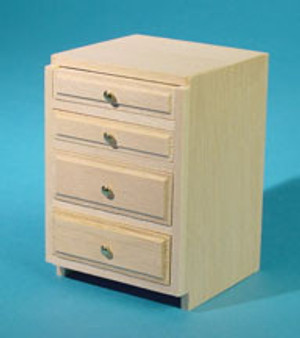 "Dollhouse Miniature - HW13405 - Kitchen Cabinet Drawer Kit - 2"" Base - Unfinished"