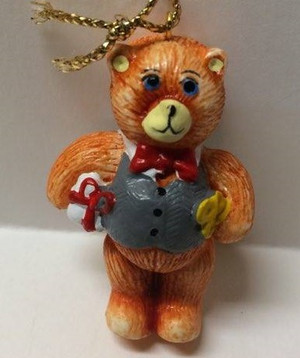 Dollhouse Miniature - YM0128-1 - Christmas Bear