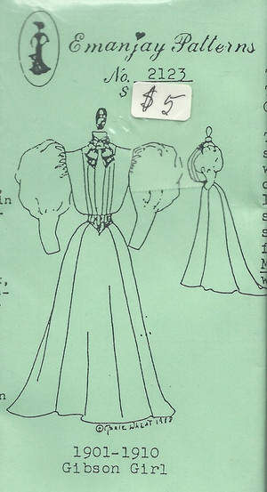 2123 - 1901-1910 Gibson Girl Dress- Emanjay Sewing Pattern