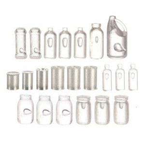 FA40046 - Jars, bottles, & Tins assortment