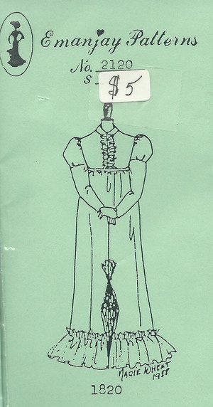 2120 -1811-1820 Regency Dress- Emanjay Sewing Pattern