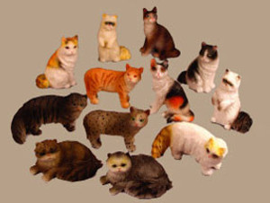 Dollhouse Miniature - VMMP3006 - Cat - Assorted - Polyresin