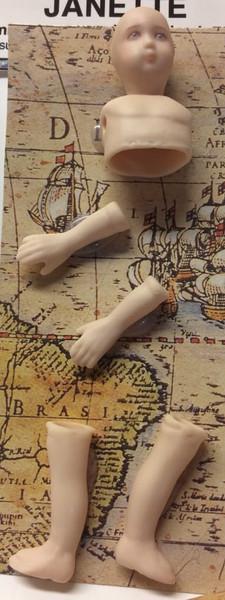 Dollhouse Miniature - Porcelain Doll Kit - Janette 1 - 1:12 Scale