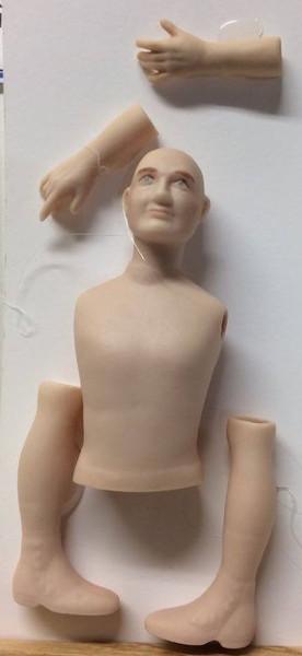 Dollhouse Miniature - Porcelain Doll Kit - Rob Jr. - 1:12 Scale