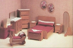 Dollhouse Miniature - FK7209 - Furniture Kit - Master Bedroom
