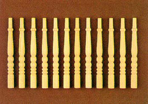 Dollhouse Miniature - CLA70201 - Turned Spindles - Pkg. 12  (HW7009)