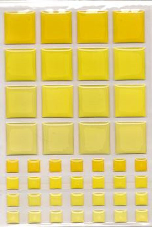 Dollhouse Miniature - 57399 - TILES - YELLOW