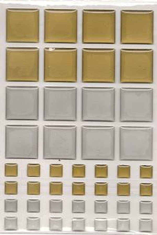 Dollhouse Miniature - 57406 - TILES - Gold & Silver