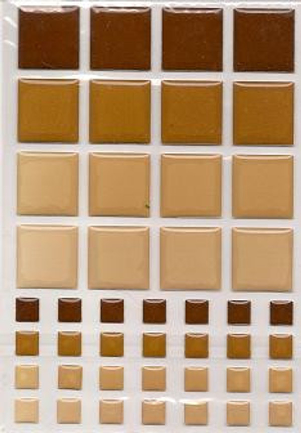 Dollhouse Miniature - 57405 - TILES - BROWN