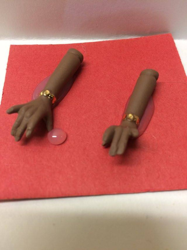 Dollhouse Miniature – BROWN ARMS - Porcelain Doll Kit Hand & Arms Only