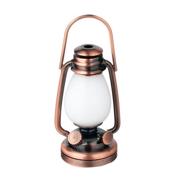 Dollhouse Miniature - HW 2342 - Battery LED - Oil Lamp Lantern/Copper