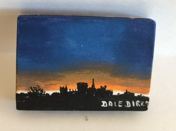 Dollhouse Miniature - 311415 - Painting - OOAK Hand Painted - Sunset Canvas