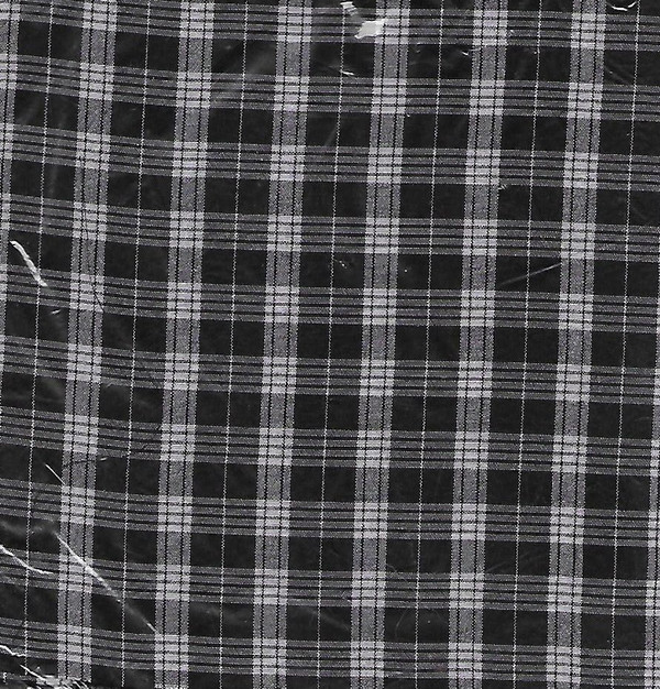 "4190096 - Fabric:  Black Check - SILK - 6"" x 18"""