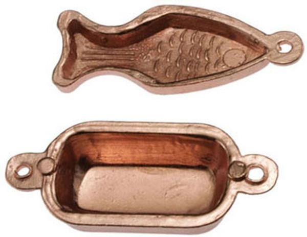 21047 -  Copper Moulds-Fish/Rectangle
