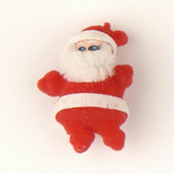 24335 - Flocked Santa Red & White