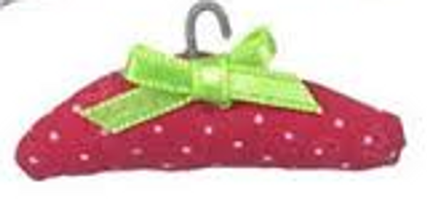 Dollhouse Miniature - MA2307-3 Red - Padded Clothes Hanger