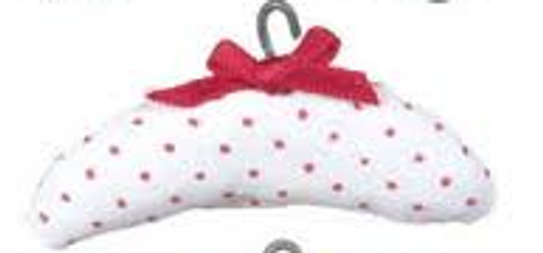 Dollhouse Miniature - MA2307-2 White - Padded Clothes Hanger