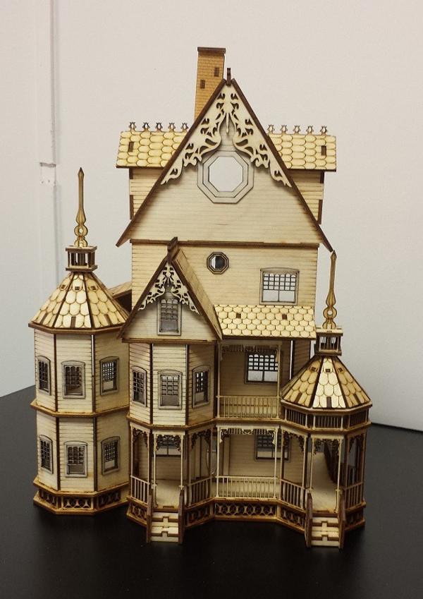 Dollhouse Kit 1 4 Scale Ashley Gothic Victorian Ld408 A