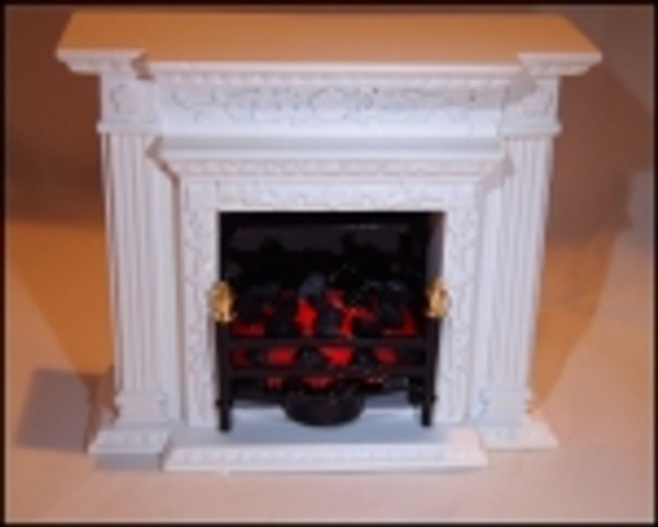T22 set in fireplace