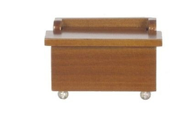 Dollhouse Miniature -T6051 - Child's Walnut Toy Chest/Box