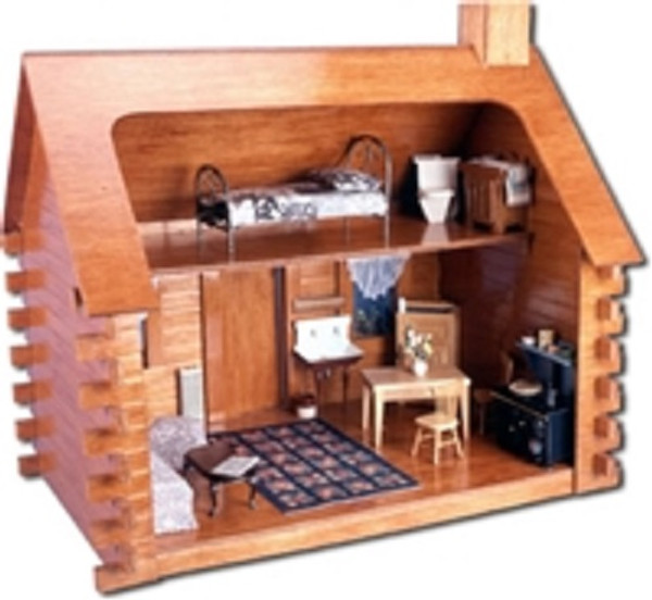 Dollhouse Kit - Greenleaf/Corona Concepts - DH9308 - Shadybrook Cabin  - Back - Furniture NOT included