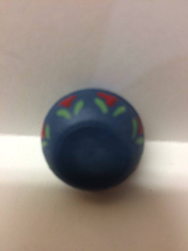 Dollhouse Miniature - 3804 - Blue Bowl - Hand painted - OOAK