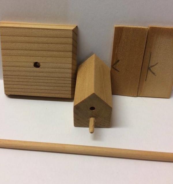 Dollhouse Miniature - 959-2 - Bird House Kit - Single Perch