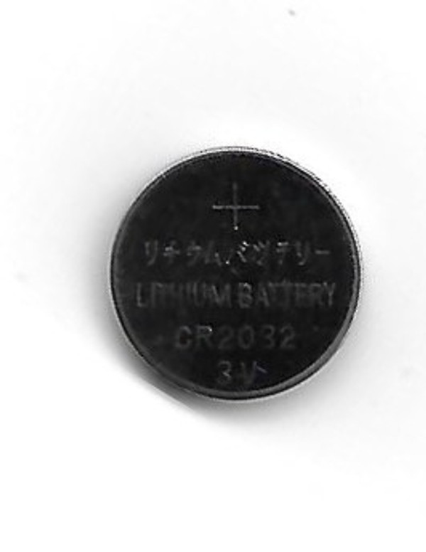 Dollhouse Miniature - CR2032 - LED Coin Cell Battery - Front