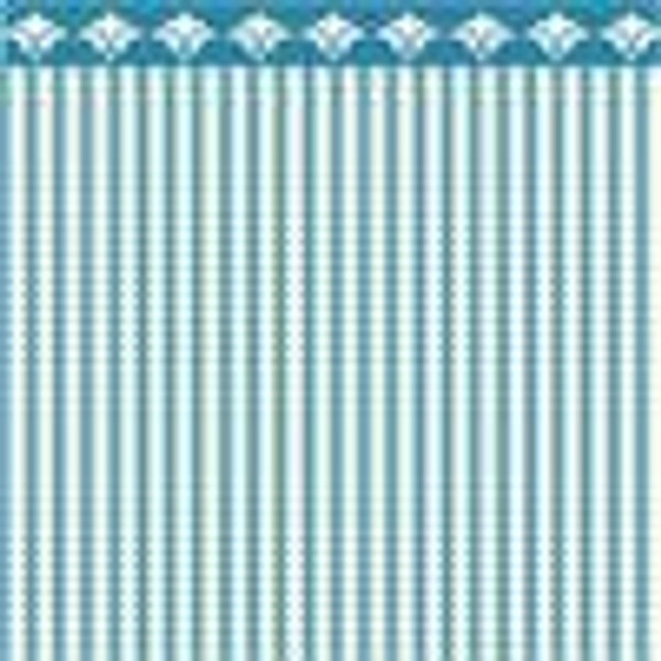 "Dollhouse Miniature - Wallpaper - 1/2"" Scale - BPHAM101B - Ticking - Blue"