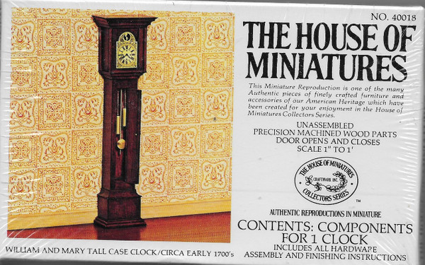 House of Miniatures #40018 - William & Mary Tall Case Clock