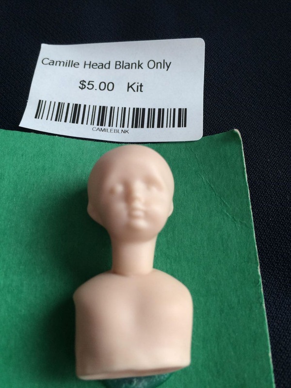 Doll Blank -Camille Head Blank Only