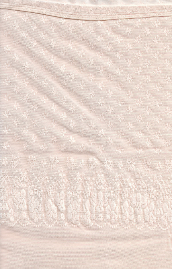 "4190117 - Fabric - Pale Peach Drapes - 13.5"" L x 6"" W"
