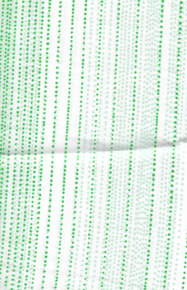 "4190084 - Fabric: White with Green Dot Lines - 6"" x10"" L"