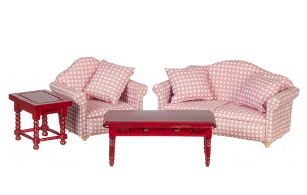 GA0414 - Living Room Set - Pink Check