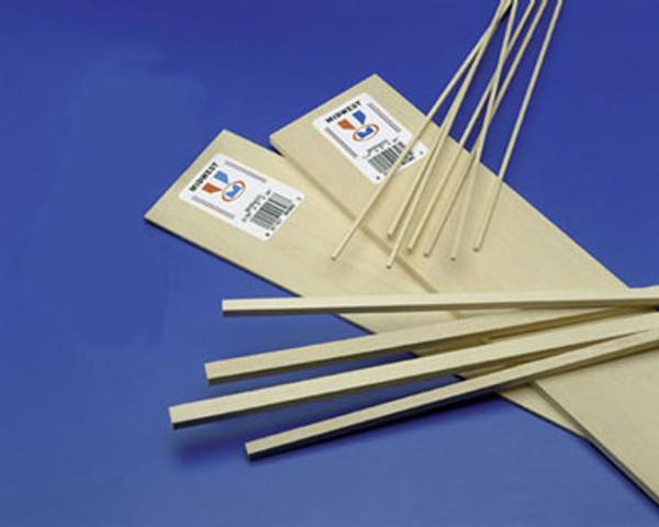 """MW41111 - Basswood Plank/Stripwood - 2"""" W x 24"""" L x 1/16"""" H"""