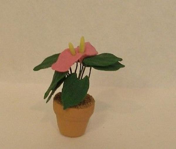4254 - OOAK Anthurium - Pink