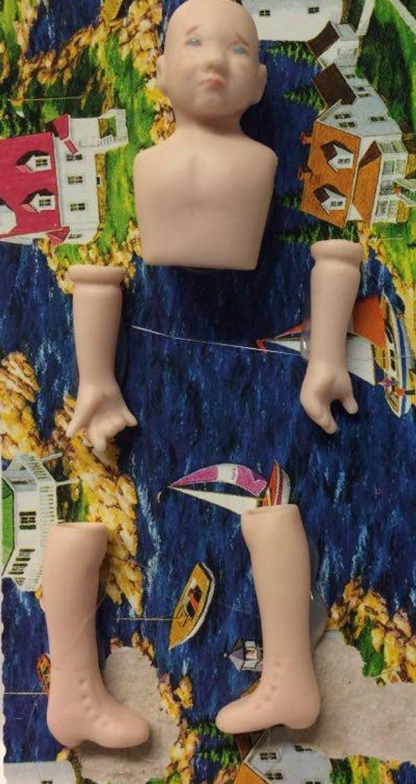 Dollhouse Miniature - Porcelain Doll Kit – Rudy - 1:12 Scale