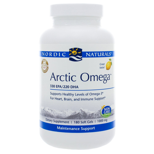 Arctic Omega Lemon by Nordic Naturals 180 softgels