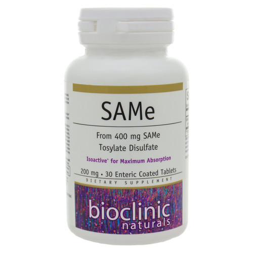 SAMe by Bioclinic Naturals 30 tablets