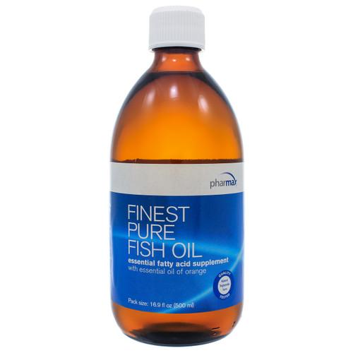 Finest Pure Fish Oil Orange by Pharmax 16.9oz (500ml)