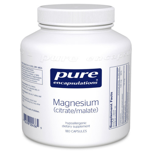 Magnesium citrate/malate by Pure Encapsulations 180 capsules